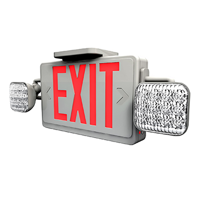 FLEDCXTEU COMBO LED EXIT & EMERGENCY