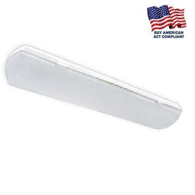 IAS SERIES 2' SANITATION RATED (NSF), TITLE 20-24, UP TO 8299 LUMENS!!  120/277 or 480V. EM, Tamper Resistant, BAA, BUY AMERICAN